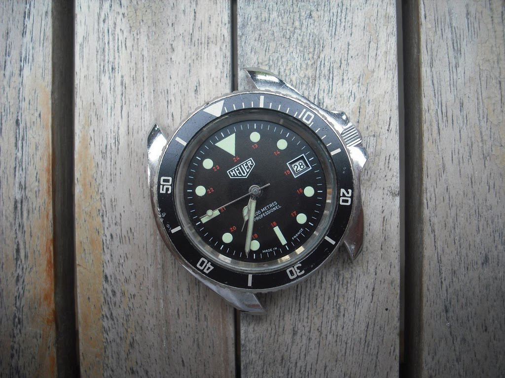 Wtb heuer 844 diver with 24 hour marked dial - Heuer dive watch ...