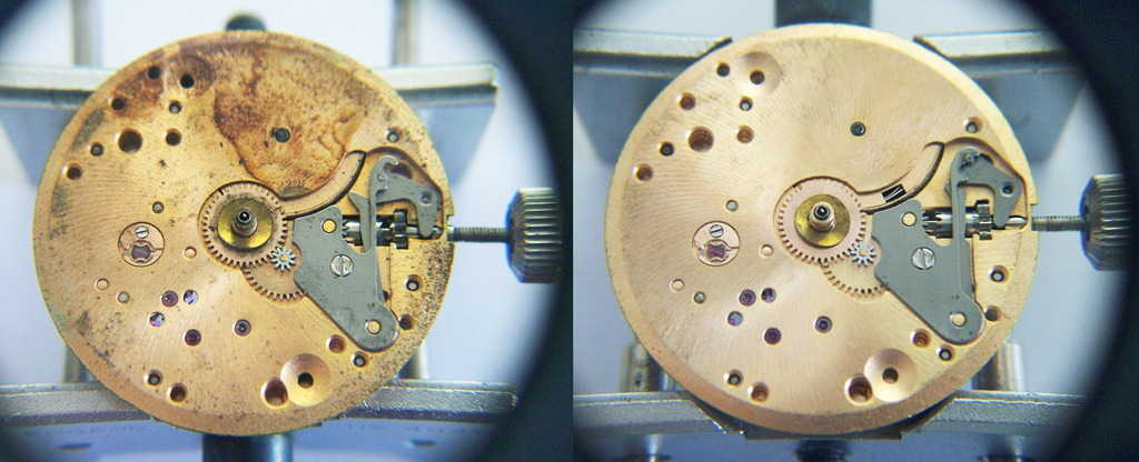 how to clean and oil a watch movement